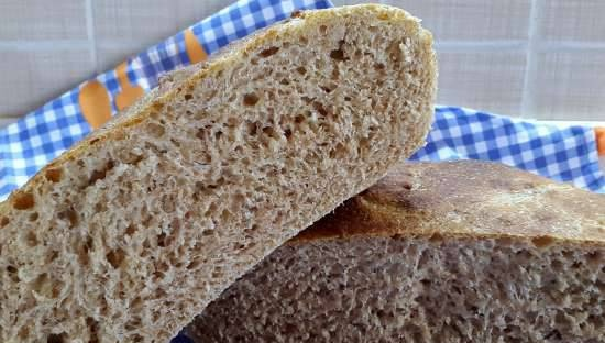 Whey and bran bread (cold fermentation)