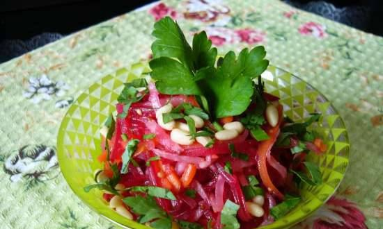 Beetroot, Carrot and Celery Root Salad
