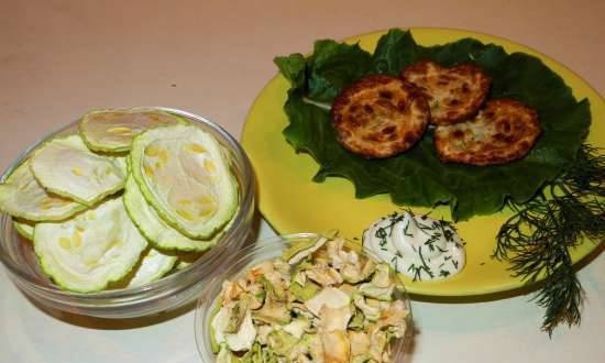 Dried zucchini (restore and fry)