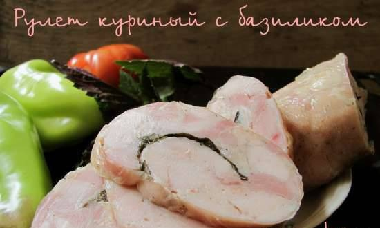 Chicken roll with basil
