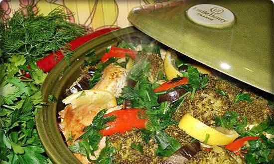 Tagine with chicken and vegetables
