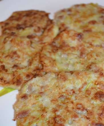 Meat pancakes with zucchini