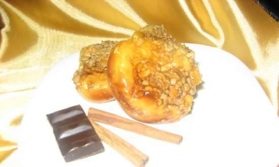 Honey buns with peanuts and seeds