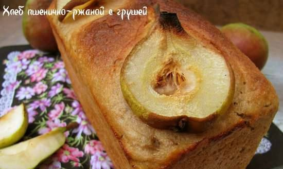 Wheat-rye bread with pear