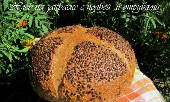 Sourdough bread with spelled and bran