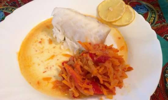 Steamed cod marinade - 2 options (Steamer and Jamie Oliver HomeCooker Philips HR1050 / 90)