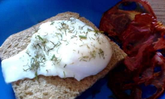 Poached egg in the microwave