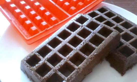 Chocolate waffles in the microwave