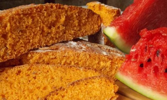 Watermelon bread with flax seeds (oven)