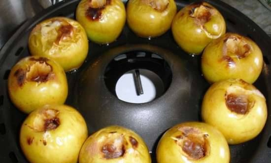 Baked apples (miracle frying pan grill gas D-512)
