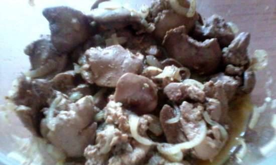 Classic chicken liver in the microwave