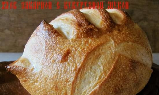 Brewed bread with corn flour