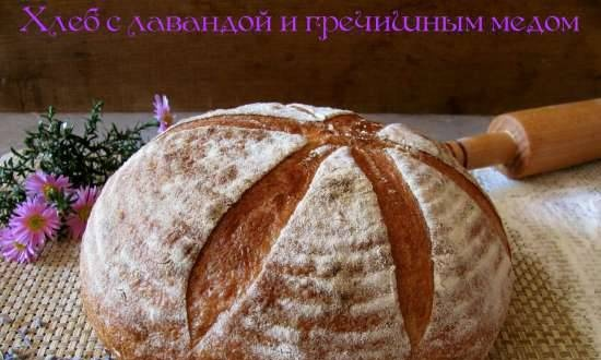 Bread with lavender and buckwheat honey