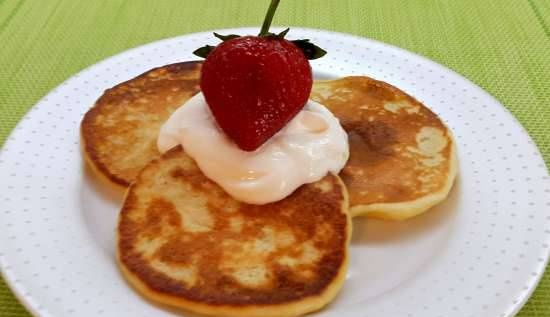 Cottage cheese and lemon pancakes