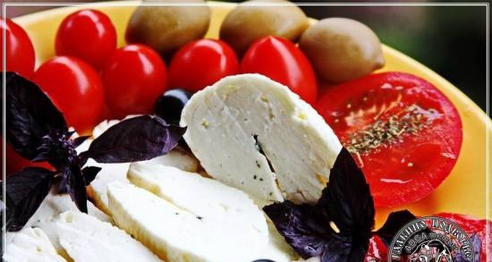 Halloumi and Anari cheese made from Anglo-Nubian goat milk