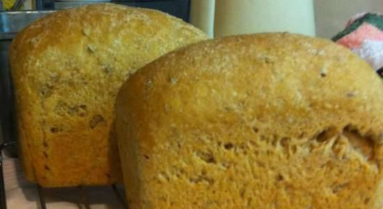 Wheat-rye bread with long cold fermentation oat flakes