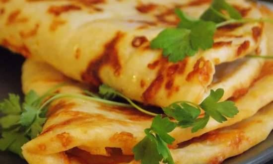 Khachapuri fast in a different manner in a contact grill VVK