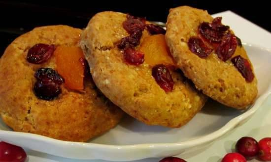 Buckwheat cookies with honey and dried fruits