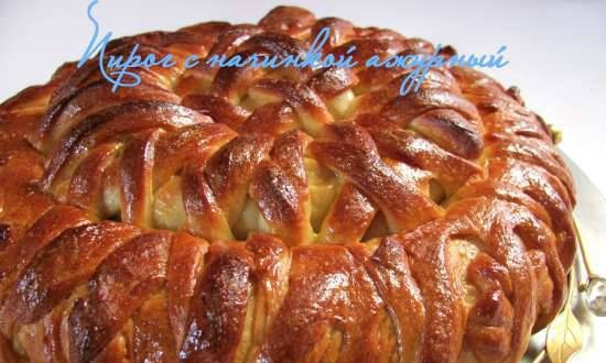 Openwork pie with filling