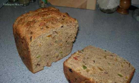 Country bread with whey muesli (bread maker)