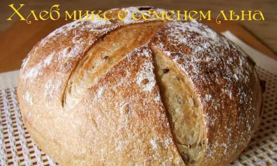 Bread mix with flax seed