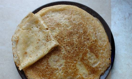 Pancakes are thin in a hole