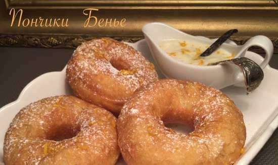 """Donuts """"Benier"""" (French) with vanilla sauce - from Régis Trigel"""
