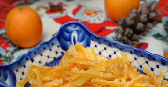Quick candied fruit from orange peels according to the method of the best chef in Moscow-2015 Sergey Efimov