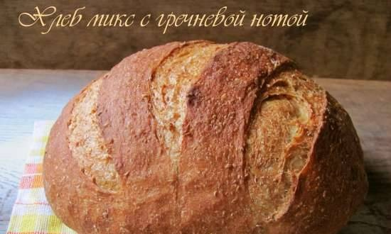 Bread mix with buckwheat note