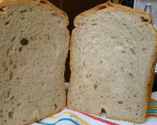 Apple bread with liquid yeast in a bread maker