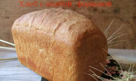 Bread with molded spelled