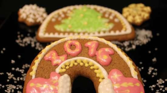 Lean Christmas gingerbread with a long standing time