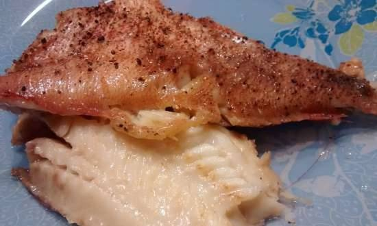 Sea bass in the microwave