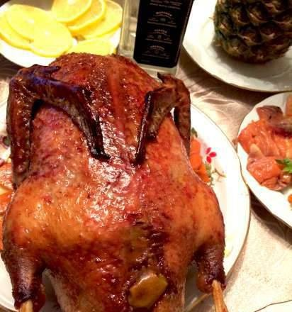 Caramelized duck in apples and oranges from Valentino Bontempi