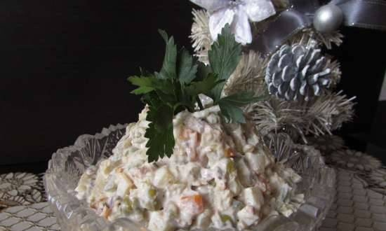 """Our family salad """"Olivier with tuna"""""""