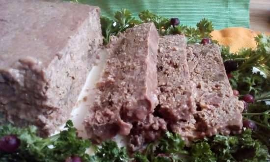 Duck pate with pickled liver