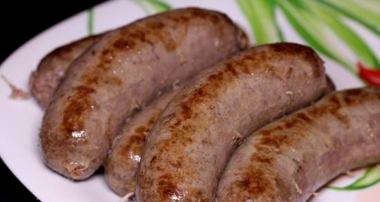 """Sausages """"Hunting"""" (from elk meat)"""
