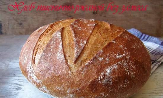 Wheat-rye bread without kneading
