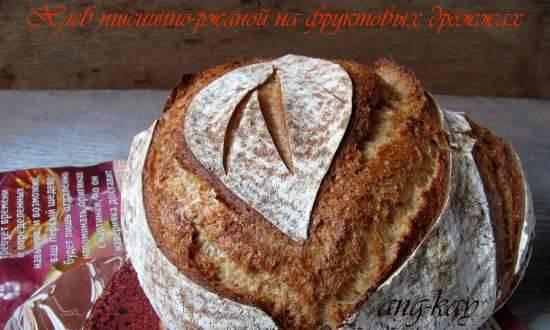 Wheat rye bread with fruit yeast