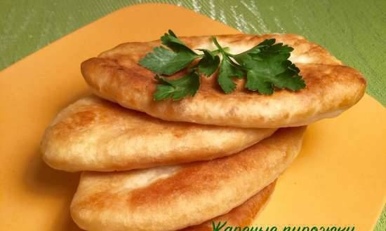 Fried pies with potato broth dough (lean recipe)