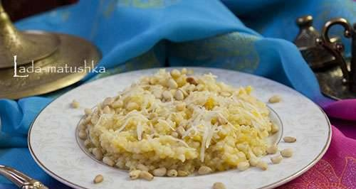 Millet porridge with pumpkin, cheese and pine nuts in a multicooker Zigmund & Shtain MC-DS42IH