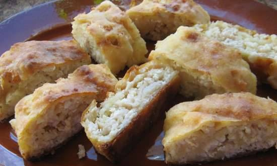 """Curd roll """"Margo"""" with different fillings"""