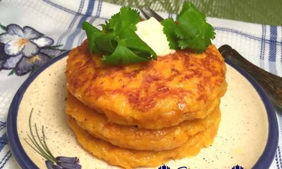 Pumpkin fritters (cutlets) with cheese