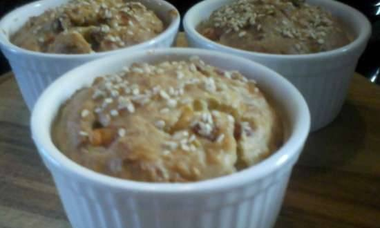 Cheese-oat muffins