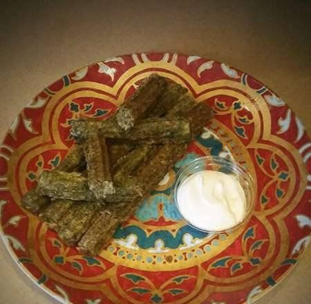 Cabbage churros with mushrooms and spinach (in Princess churrosmaker 132401)