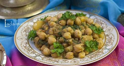 Indian curry with chickpeas and spinach (lean) (for Zigmund & Shtain MC-DS42IH)