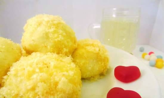 """Curd balls """"Mimosa"""" (you can use the mold for balls)"""