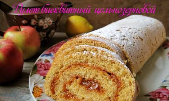 Biscuit roll with whole grain
