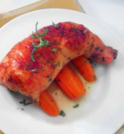 Chicken legs stuffed with cheese and hearts