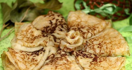 Pancakes with not strained whey (no eggs)